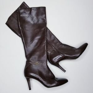 Cole haan heeled leather boots